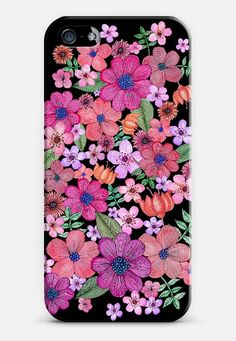Check out my new @Casetify using Instagram & Facebook photos. Make yours and get $10 off using code: WTMAF6, Black #flowers #pink #spring #iphone #case #casetify #watercolour