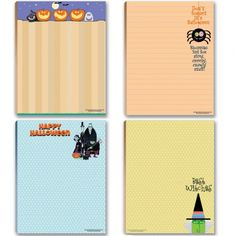 Halloween Notepads - Funny