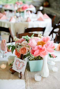 Mint and Coral Cedarwood Wedding | Historic Cedarwood | All Inclusive Designer Weddings