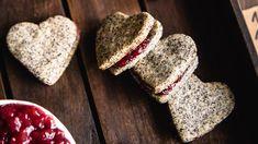 Makové linecké srdiečka - Recepty SweetFamily Sweet, 3, Food, Basket, Meal, Essen, Hoods, Meals, Eten