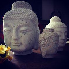 buddha, marble buddha heads - apartmentf15 photo