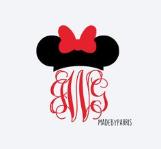 Minnie Mouse Monogram Vinyl Decal, Monogram Decal, Disney Decal, Minnie Monogram, Car Decal, Yeti Decal, Disney Lover, Minnie Decal, Disney by MadeByParris on Etsy