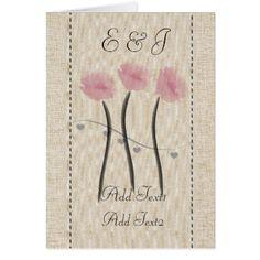 #wedding #thankyoucards - #Cute Rustic Cute Pink Anemones Monogrammed Card