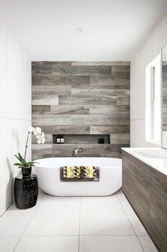 Wood tile. Love it