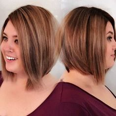 63 Ideas hair cuts for round faces plus size double chin short - Best Frisuren ideen Double Chin Hairstyles, Plus Size Hairstyles, Bob Hairstyles For Round Face, Thin Hair Haircuts, Short Haircut, Short Hairstyles For Women, Thin Hairstyles, Hairstyles 2018, Fat Face Hairstyles
