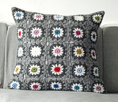 pillow  #crochet #granny_square #motif