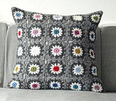 pillow  #crochet #granny_square #motif