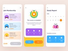 The second part of the ROSEN Learning Reader app by Tenney Tang on Dribbble Dashboard Ui, Dashboard Design, Ux Design, Graphic Design, Ui Design Mobile, User Experience Design, Customer Experience, Mobile App Ui, Ui Design Inspiration