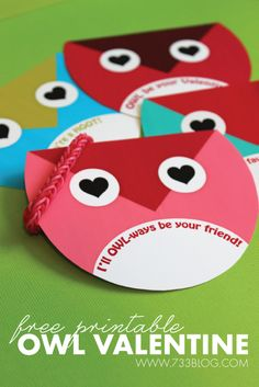seven thirty three - - - a creative blog: Owl Always Be Your Valentine - Free Owl Valentines
