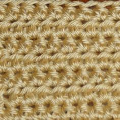 Half Double Crochet Stitch Worked in Rows - Photo © Michael Solovay