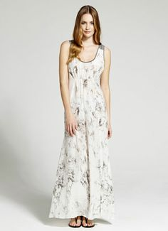 Ivory Jasmine Print Maxi Dress