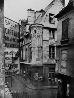 Rue Vieille-du-Temple Paris -- 1858 -- Crédit Photo: © Charles Marville