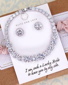 Bride jewelry set Simple Silver Cubic Zirconia Jewelry Set, Welcome to Glitz & Love where you will f Fashion Jewelry Necklaces, I Love Jewelry, Fine Jewelry, Silver Jewelry, Silver Earrings, Fashion Jewellery, Jewelry Rings, Jewelry Quotes, Dainty Jewelry