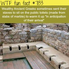 Ancient Greeks sent slaves to warm up the toilets - WTF fun facts