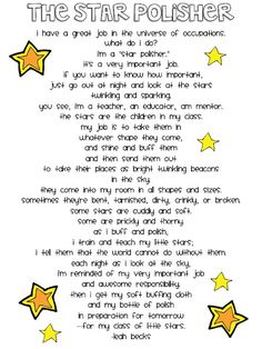 The Star Polisher by Leah Becks.  Need this in my classroom!! <3
