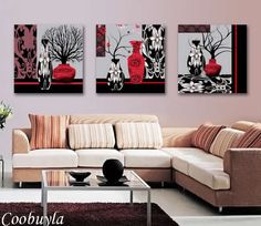 3 Pieces Top Quality Modern Wall Abstract Art Oil Painting Still Life Abstract Tree Canvas