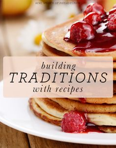 How to build traditions with recipes
