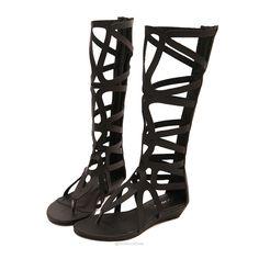 Knee High Gladiator Flip Flop Flats -  - Shoes, www.looklovelust.com - 2, https://www.looklovelust.com/products/knee-high-gladiator-flip-flop-flats