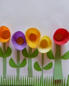 Mother´s day crafts for kids - Gifts - Cute ideas for the kids to make create as gifts  - Ideas para el día de la madre - manualidades para niños - Flores de colores- #laclassedellamaestravalentina