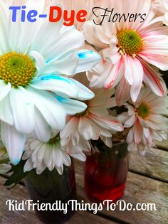 DIY Tie Dye Flowers Idea & Tutorial! What a cool project, and beautiful flowers to display!