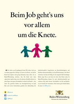 Du hältst uns für geldgierig? Irrtum! Wir haben doch nur von Knete gesprochen. Denn wir in Baden-Württemberg möchten, dass dein Kind auch dann unbeschwert spielen kann, wenn du arbeitest. Die immer bessere Vereinbarkeit von Job und Familie: nur ein Grund, jetzt umzuziehen. Freundlich, Movie Posters, Play Dough, Advertising, Bathing, Film Poster, Billboard, Film Posters