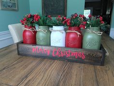 A personal favorite from my Etsy shop https://www.etsy.com/listing/537929800/merry-christmas-rustic-mason-jar