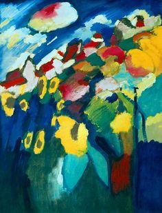 Wassily Kandinsky. Murnau The Garden II, 1910.  The Merzbacher Collection.
