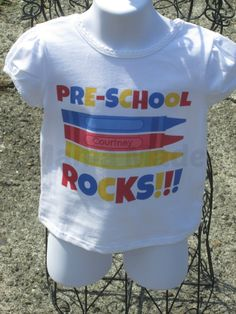 Girls Crayon Back to School Shirt Primary Color by mamamadebows, $15.00+