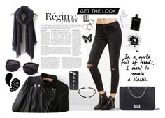 """""""Black"""" by jeca09 ❤ liked on Polyvore featuring Anja"""