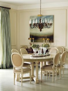 Une Salle à Manger Traditionnelle Country Dining Rooms, French Country  Dining, Elegant Dining Room