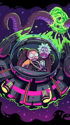Awesome Rick and Morty Trippy Spaceship Wallpapers - WallpaperAccess
