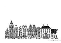 Amsterdam Drawing II - Small limited edition print 1/50 from an original papercut by Joseph Segaran