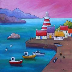 Waterfront Dawn by Gillian Mowbray