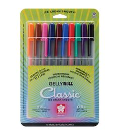 Gelly Roll Medium Point Pens 10/Pkg-Assorted Colors