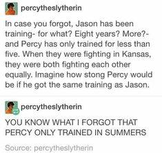 percy jackson is an absolute boss. Percabeth, Solangelo, Percy Jackson Memes, Percy Jackson Books, Percy Jackson Fandom, Rick Riordan Series, Rick Riordan Books, Magnus Chase, Drarry
