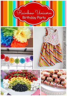 Cutest Rainbow Unicorn Birthday Party with FREE Printables!