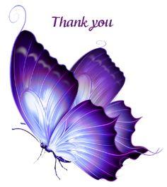 Thank you by KmyGraphic on DeviantArt Purple Butterfly Tattoo, Butterfly Outline, Butterfly Clip Art, Butterfly Drawing, Simple Butterfly, Monarch Butterfly, Trendy Tattoos, Tattoos For Women, Fairy Art