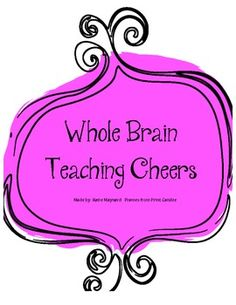 Whole Brain Teaching Cheers - Katie Maynard - TeachersPayTeachers.com