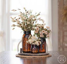 Decorating with Mason Jars and Bottles