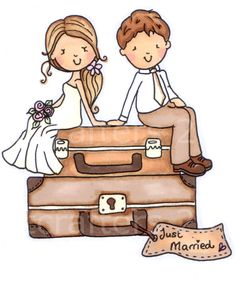 Just Married Digi Stamp