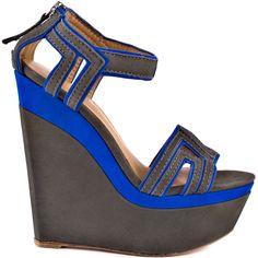 Iva heels Grey Blue brand heels L.A.M.B.