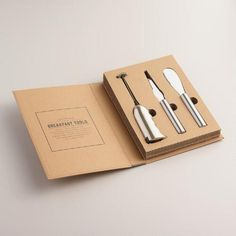 One of my favorite discoveries at WorldMarket.com: Culinary Breakfast Tools Hostess Gift Set, 3 Piece