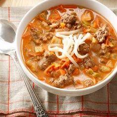 Stuffed Sweet Pepper Soup Recipe