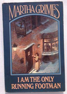 I Am The Only Running Footman - Martha Grimes (1986 HC) BOMC 8 Richard Jury Ser.