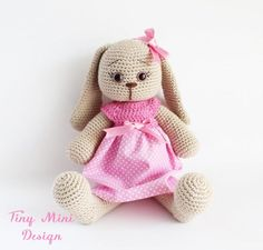 DIY Amigurumi Bunny Girl - FREE Crochet Pattern / Tutorial