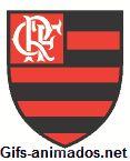 gif animado 01 do escudo do time Flamengo futebol brasileiro brasão emblema logo Clube de Regatas do Flamengo