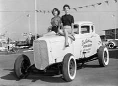 Decidedly Old School Hot Rod & Girls.
