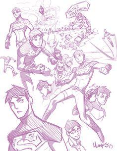 YJ Superboy 90's style by MatthewRHumphreys.deviantart.com on @deviantART