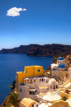 Only one cloud in Oia today - Greece