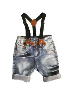 BERMUDA JEANS COM SUSPENSÓRIO - Stylish For Kids